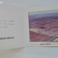 Fotografía antigua: FOTO AÉREA DE UN CAMPO. FELICITACIÓN DE NAVIDAD DE PAISAJES ESPAÑOLES. AÑOS 70. Lote 180507613