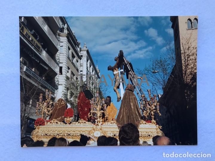 SEMANA SANTA SEVILLA. CRISTO DE LAS CINCO LLAGAS, LA TRINIDAD. AÑOS 80. 15 X 20 CM. (Fotografía Antigua - Fotomecánica)