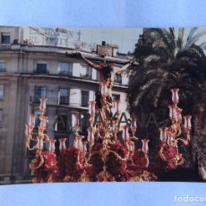 Fotografía antigua: SEMANA SANTA SEVILLA. CRISTO DE LA SALUD, SAN BERNARDO. AÑOS 80. 15 X 20 CM.. Lote 180949431