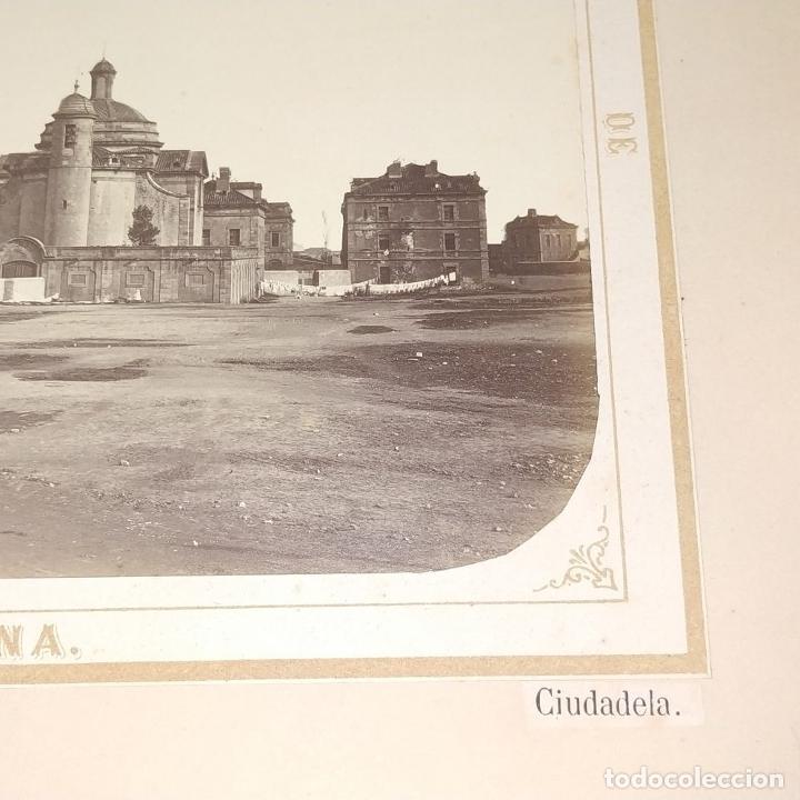 Fotografía antigua: LA CIUDADELA DE BARCELONA. FOTOGRAFÍA. VIVES Y MARTÍ. ESPAÑA. SIGLO XIX - Foto 3 - 181740367