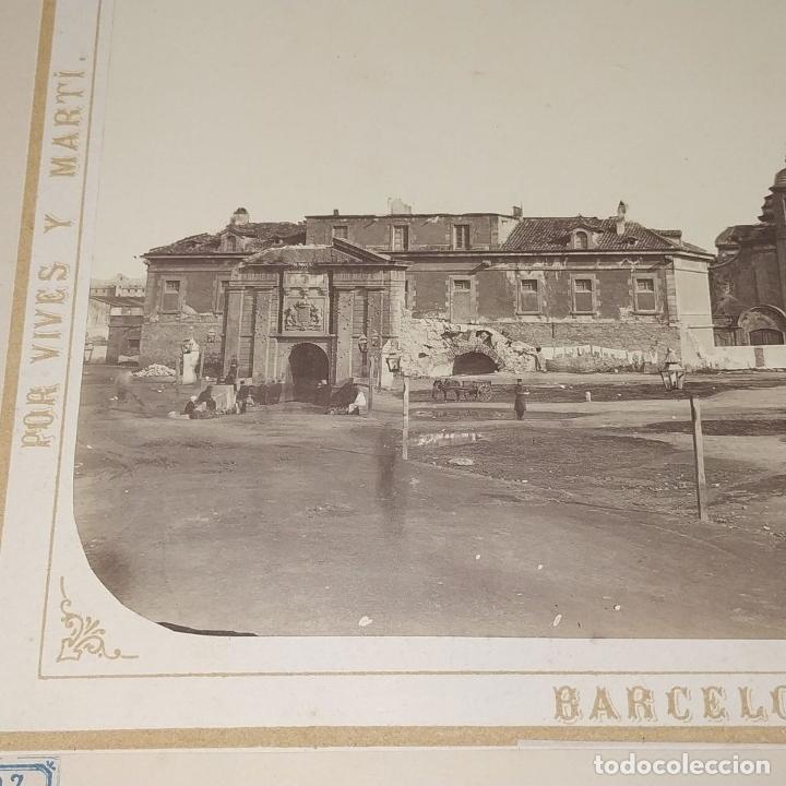 Fotografía antigua: LA CIUDADELA DE BARCELONA. FOTOGRAFÍA. VIVES Y MARTÍ. ESPAÑA. SIGLO XIX - Foto 7 - 181740367