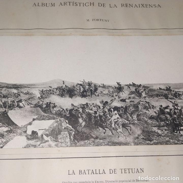 Fotografía antigua: LA BATALLA DE TETUAN. REPRODUCCIÓN FOTOGRAFICA DE LA PINTURA DE FORTUNY. ESPAÑA. XIX - Foto 4 - 181743468