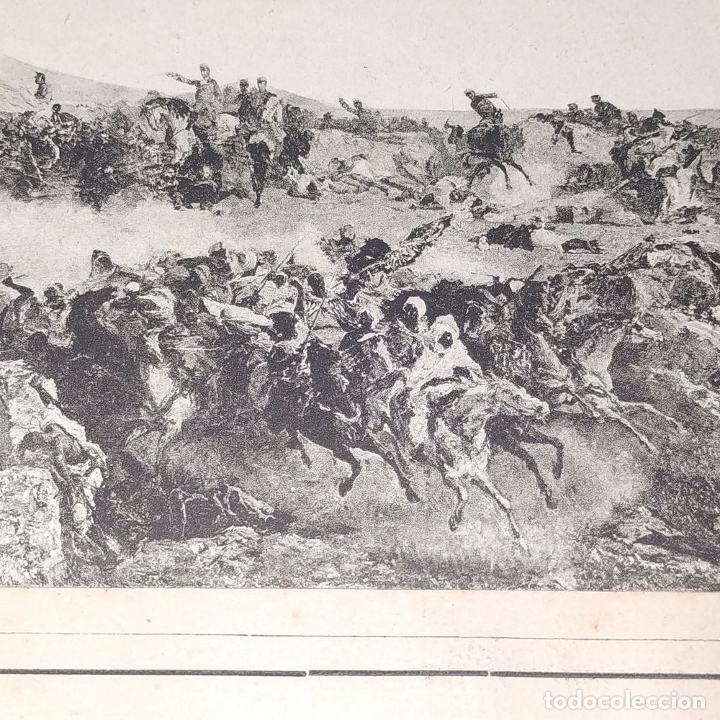Fotografía antigua: LA BATALLA DE TETUAN. REPRODUCCIÓN FOTOGRAFICA DE LA PINTURA DE FORTUNY. ESPAÑA. XIX - Foto 5 - 181743468