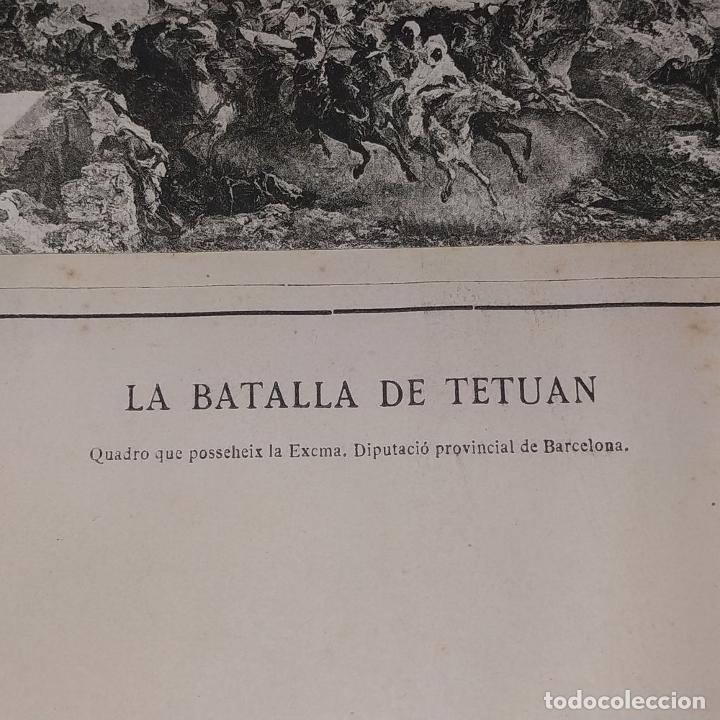 Fotografía antigua: LA BATALLA DE TETUAN. REPRODUCCIÓN FOTOGRAFICA DE LA PINTURA DE FORTUNY. ESPAÑA. XIX - Foto 8 - 181743468