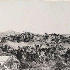 Fotografía antigua: LA BATALLA DE TETUAN. REPRODUCCIÓN FOTOGRAFICA DE LA PINTURA DE FORTUNY. ESPAÑA. XIX. Lote 181743468