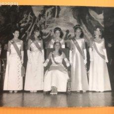 Fotografía antigua: SAN SEBASTIAN REINA Y DAMAS CONCURSO BELLEZA GRAN FOTOGRAFIA REINA DE SAN SEBASTIAN MISS ESPAÑA. Lote 181993417