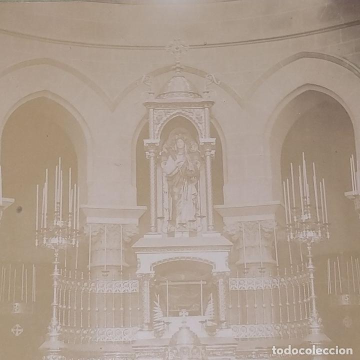 Fotografía antigua: ALTAR MAYOR DE SANTA MADRONA DE BARCELONA. FOTOGRAFÍA. DEDICADA. ESTEBAN MONEGAL.ESPAÑA. 1898 - Foto 3 - 182163183
