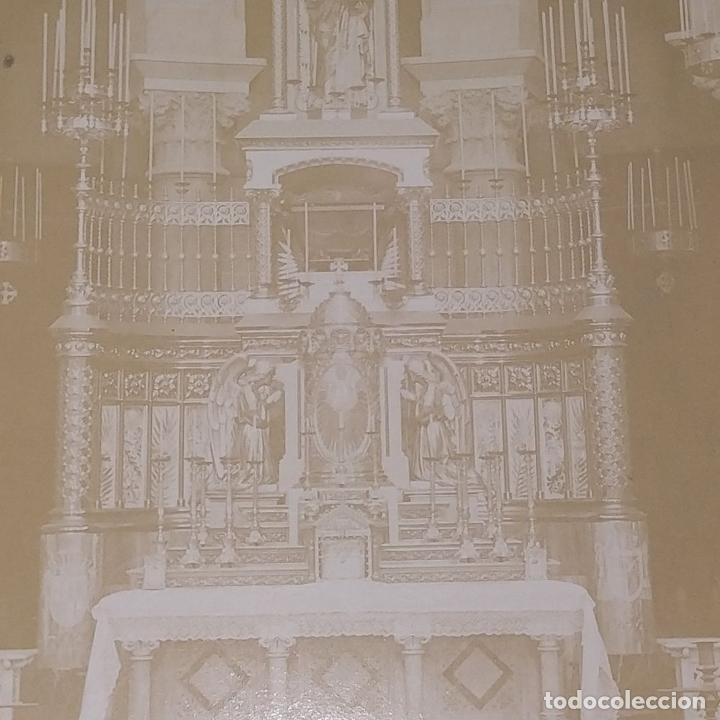 Fotografía antigua: ALTAR MAYOR DE SANTA MADRONA DE BARCELONA. FOTOGRAFÍA. DEDICADA. ESTEBAN MONEGAL.ESPAÑA. 1898 - Foto 6 - 182163183