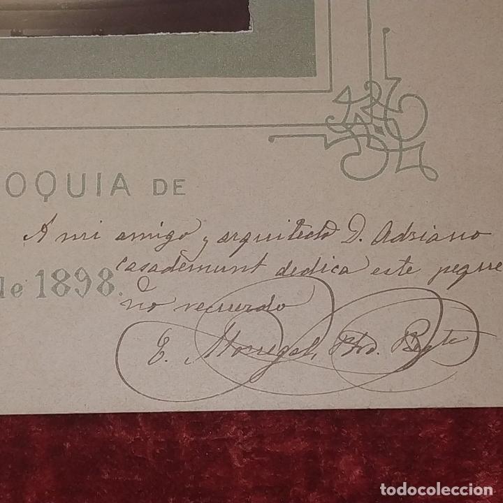 Fotografía antigua: ALTAR MAYOR DE SANTA MADRONA DE BARCELONA. FOTOGRAFÍA. DEDICADA. ESTEBAN MONEGAL.ESPAÑA. 1898 - Foto 8 - 182163183