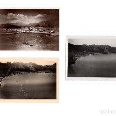 Fotografía antigua: BASE DE HIDROS DE POLLENSA. ISLAS BALEARES.- AERÓDROMO MILITAR DE POLLENSA.1928 Y 1934 .-18X12,5.. Lote 182615552