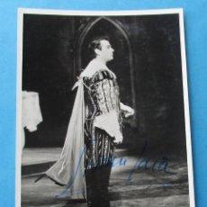 Fotografía antigua: FOTOGRAFIA DEL TENOR ITALIANO ´GIANNI JAIA´. FIRMADA. 15 X 10,5 CM. Lote 182674840