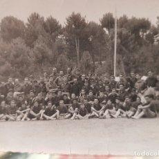 Fotografía antigua: ANTIGUA FOTOGRAFIA CAMPAMENTO FALANGE JUVENTUDES FRANQUISTAS OJE CAUDETE ALBACETE . Lote 182681070