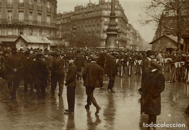 TROOPS AT PARIS FRANCE 16*12CM FONDS VICTOR FORBIN 1864-1947 (Fotografía Antigua - Fotomecánica)