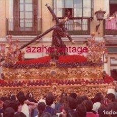 Fotografía antigua: SEMANA SANTA SEVILLA, 1982,NTRO.PADRE JESUS DE LA SALUD, LA CANDELARIA, 15X10 CMS. Lote 183313166