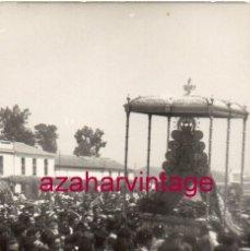 Fotografía antigua: ANTIGUA FOTOGRAFIA , ROMERIA DEL ROCIO, 75X105MM. Lote 183418832