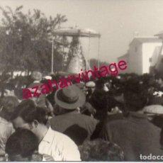 Fotografía antigua: ANTIGUA FOTOGRAFIA , ROMERIA DEL ROCIO, 105X75MM. Lote 183418930