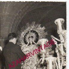 Fotografía antigua: MOGUER, HUELVA, 1958, PROCESION DE LA VIRGEN DE MONTEMAYOR, 90X140MM. Lote 183429338