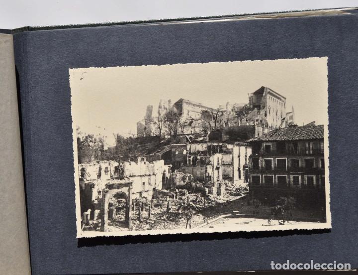 ALCÁZAR DE TOLEDO.- ÁLBUM DE FOTOGRAFÍAS ANTES DURANTE Y DESPUES DE LA GUERRA CIVIL, CADA FOTO 17X12 (Fotografía Antigua - Fotomecánica)