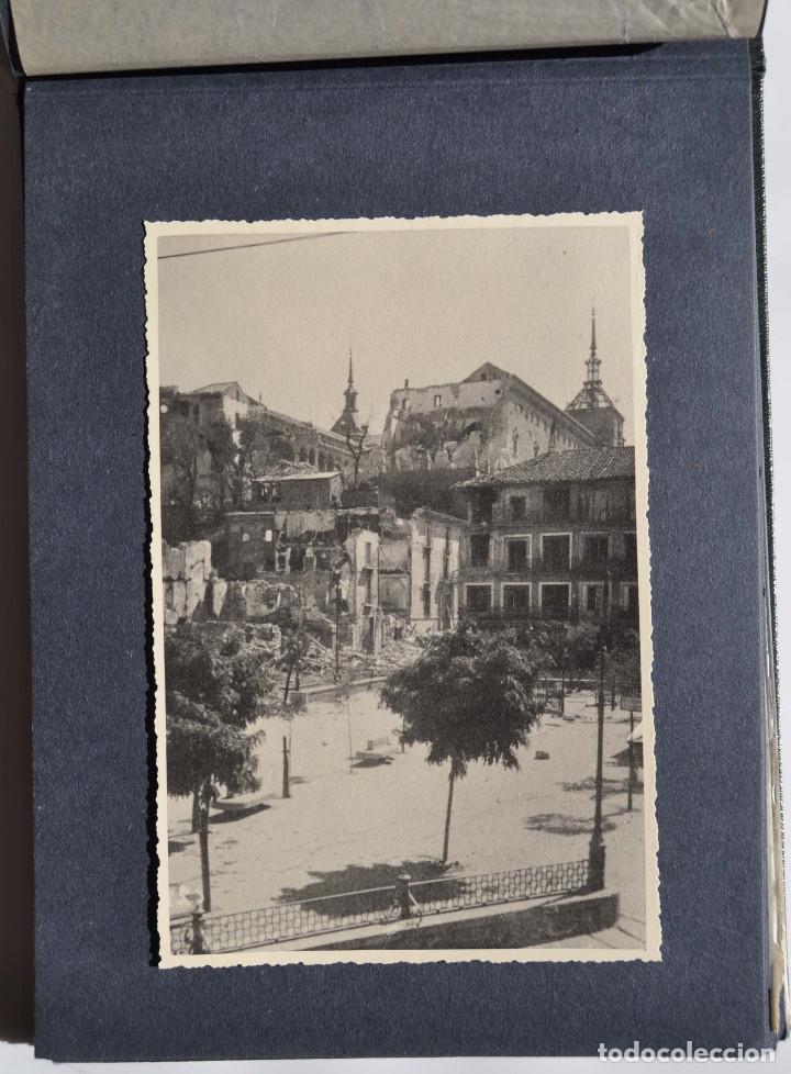 Fotografía antigua: ALCÁZAR DE TOLEDO.- ÁLBUM DE FOTOGRAFÍAS ANTES DURANTE Y DESPUES DE LA GUERRA CIVIL, CADA FOTO 17X12 - Foto 9 - 183472858