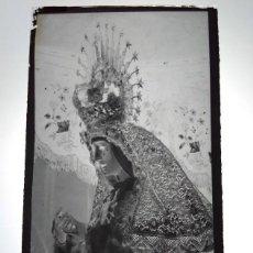 Fotografía antigua: DOS HERMANAS SEVILLA ANTIGUO CLICHÉ DE NTRA MADRE Y SRA DE LOS DOLORES NEGATIVO EN CRISTAL. Lote 183478211
