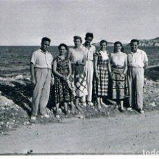 Fotografía antigua: JAVEA. AÑO 1954. A LA SALIDA DEL PUERTO. Lote 183839876