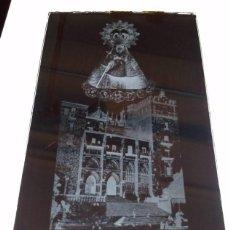 Fotografía antigua: GUADALUPE CÁCERES ANTIGUO CLICHÉ DE NTRA SRA DE GUADALUPE REINA DE LAS ESPAÑAS NEGATIVO CRISTAL. Lote 183840752