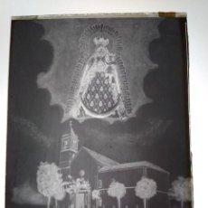 Fotografía antigua: UTRERA SEVILLA ANTIGUO CLICHÉ SANTUARIO E IMAGEN DE NTRA SRA DE LA CONSOLACIÓN NEGATIVO EN CRISTAL. Lote 184003772