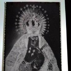Fotografía antigua: LA ALGABA SEVILLA ANTIGUO CLICHÉ DE NTRA SRA DE LOS DOLORES NEGATIVO EN CRISTAL. Lote 184392785