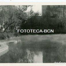 Fotografía antigua: FOTO ORIGINAL ALHAMA DE ARAGON ESTANQUE AÑO 1957. Lote 184599581