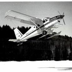 Fotografía antigua: DE HAVILLAND CABADA DHC TURBO BEAVER 25 * 20 CM. Lote 184788160