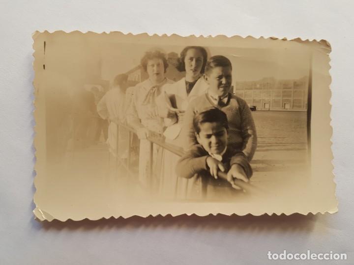 PUERTO MONTEVIDEO 1938 FAMILIA FAMILY FAMILLE (Fotografía Antigua - Fotomecánica)
