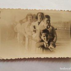 Fotografía antigua: PUERTO MONTEVIDEO 1938 FAMILIA FAMILY FAMILLE. Lote 185658935