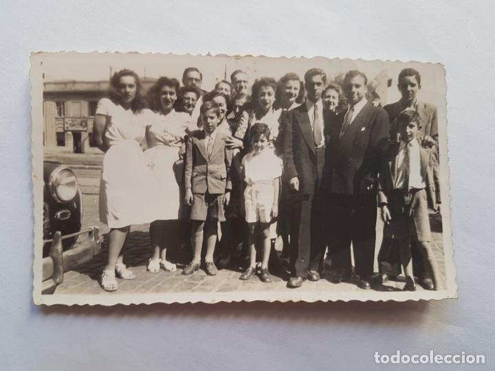 PUERTO BUENOS AIRES 1947 FAMILIA FAMILY FAMILLE (Fotografía Antigua - Fotomecánica)