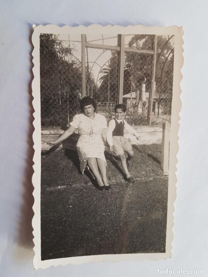 1940 MADRE NIÑO PARQUE, MOTHER BOY PARK, MÈRE GARC PARK, (Fotografía Antigua - Fotomecánica)