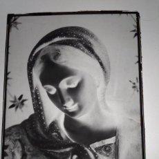 Fotografía antigua: VILLAFRANCA DE LOS BARROS BADAJOZ ANTIGUO CLICHÉ DE LA PURÍSIMA DEL COLEGIO SAN JOSÉ NEGAT. CRISTAL. Lote 186095778