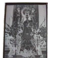 Fotografía antigua: ARROYO DE SAN SERVÁN BADAJOZ ANTIGUO CLICHÉ DE LA PATRONA NTRA SRA DE PERALES NEGATIVO EN CRISTAL. Lote 186096915