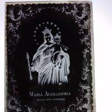 Fotografía antigua: RONDA MÁLAGA ANTIGUO CLICHÉ DE MARÍA AUXILIADORA NEGATIVO EN CRISTAL. Lote 186097562
