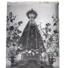 Fotografía antigua: LA HABA BADAJOZ ANTIGUO CLICHÉ DE NUESTRA SEÑORA DE LA ANTIGUA NEGATIVO EN CRISTAL. Lote 186098258