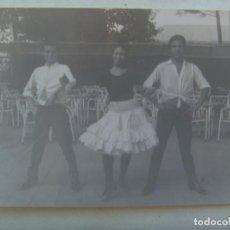 Fotografía antigua: FOTO DE ARTISTAS FLAMENCOS : MONSE,PAQUITO Y LUIS (?). SANTANDER. Lote 186184562