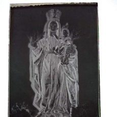 Fotografía antigua: ANTIGUO CLICHÉ DE NUESTRA SEÑORA DEL CAMINO PATRONA DE LA ALBUERA BADAJOZ NEGATIVO EN CRISTAL. Lote 186311797