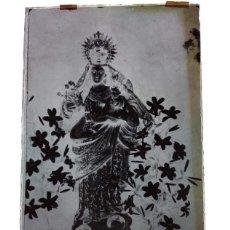Fotografía antigua: ANTIGUO CLICHÉ DE NTRA SRA DE LAS FLORES PATRONA DE BODONAL DE LA SIERRA BADAJOZ NEGATIVO EN CRISTAL. Lote 186339461