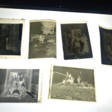 Fotografía antigua: LOTE 6 CELULOIDES NEGATIVOS FAMILIA MADRILEÑA 1930. A IDENTIFICAR.. Lote 187160475