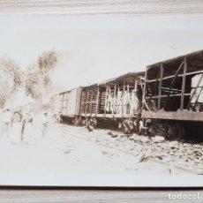 Fotografía antigua: LOTE 3 FOTOGRAFIAS PRINCIPIO SIGLO XX DE TREN EN MEXICO OCOTLAN - GUADALAJARA. Lote 188512722
