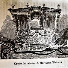 Fotografía antigua: FOTO COCHE DE RAINHA D, MARIANNA VICTORIA PORTUGAL 24 X 18.CM. Lote 188596262