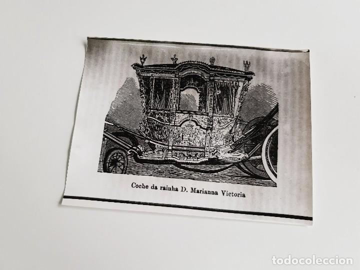 Fotografía antigua: FOTO COCHE DE RAINHA D, MARIANNA VICTORIA PORTUGAL 24 X 18.CM - Foto 2 - 188596262