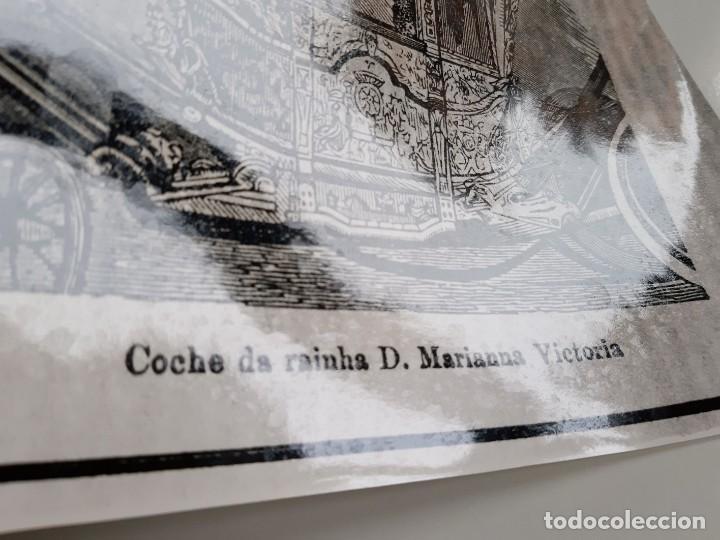 Fotografía antigua: FOTO COCHE DE RAINHA D, MARIANNA VICTORIA PORTUGAL 24 X 18.CM - Foto 3 - 188596262