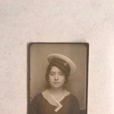 Fotografia antiga: PHOTOMATON. FOTOGRAFÍA. A SUS ÓRDENES MI CAPITÁN...SEÑORITA CON SOMBRERO NAVAL (A.1934). Lote 188731510