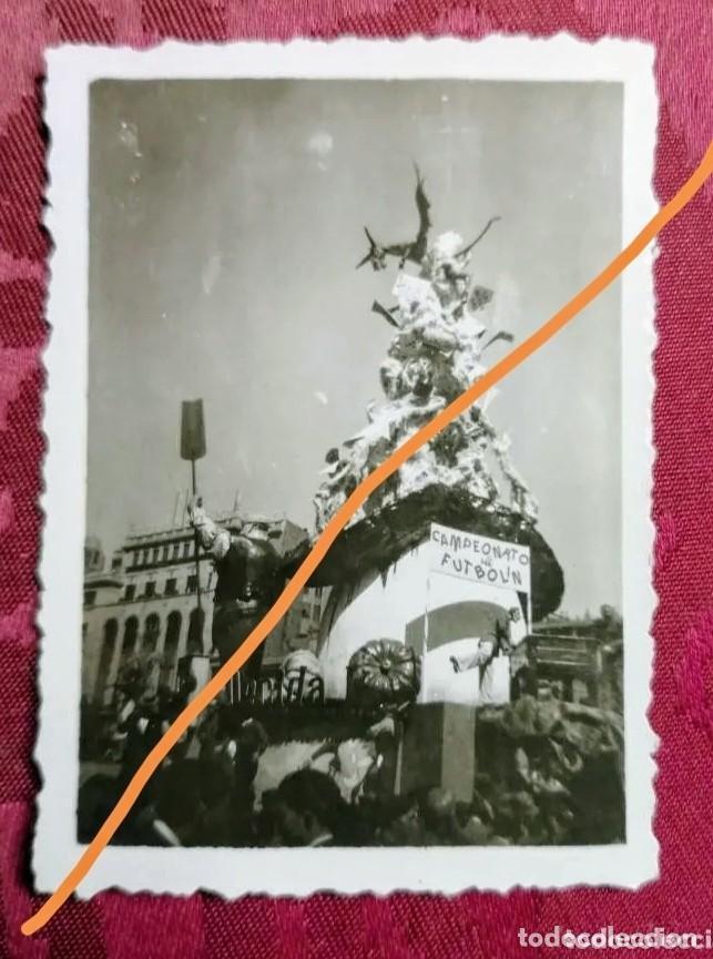 ANTIGUA FOTOGRAFÍA. FALLA PLAZA DEL AYUNTAMIENTO. AÑO 1952. FALLAS DE VALENCIA. FOTO. (Fotografía Antigua - Fotomecánica)