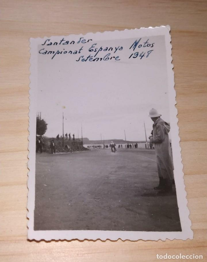 FOTO CAMPEONATO DE ESPAÑA DE MOTOS. SANTANDER 1948. (Fotografía Antigua - Fotomecánica)