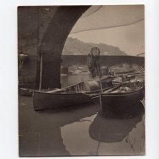 Fotografía antigua: ONDÁRROA.(VIZCAYA).- VISTA PARCIAL DEL PUEBLO PESQUERO. 12,5X15. . Lote 190206023